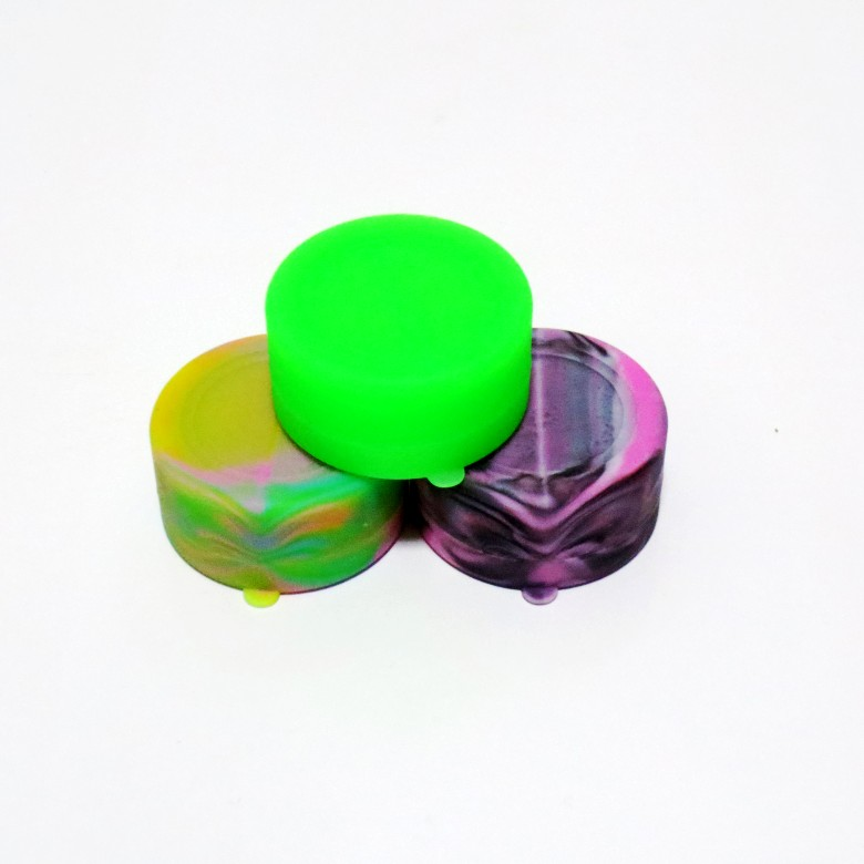 7ml Multi-compartment Silicone Jars Container Silicone Contianer For Concentrate Wax Silicone Jars E C
