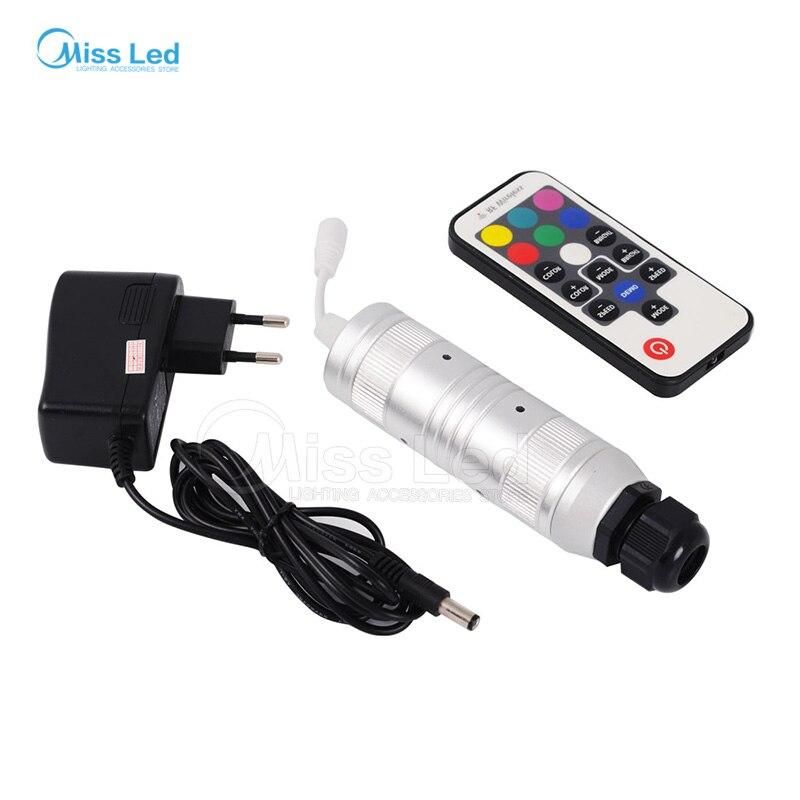 все цены на Freeshipping Car use DC12V 6W RGB with 17keys RF remote LED Fiber Optic Light Engine онлайн