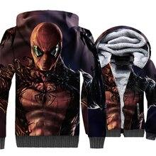 Venom & Spiderman Funny 3D Hoodies 2019 New Hip Hop Super Hero Winter Jackets For Men Sweatshirts Fans Plus Size M-5XL