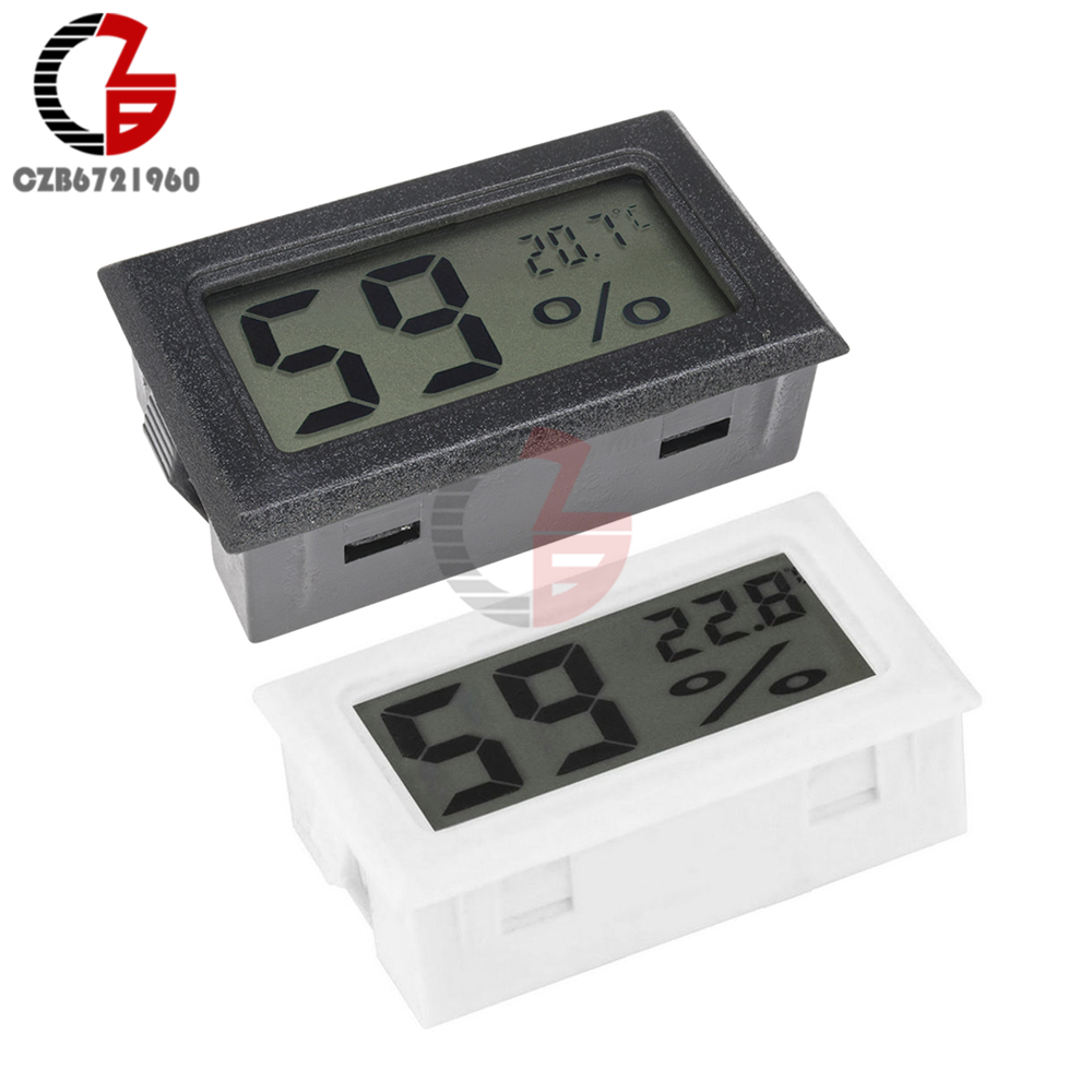 Mini LCD <font><b>Digital</b></font> <font><b>Thermometer</b></font> Hygrometer Auto Auto Temperatur Feuchtigkeit Sensor Meter Indoor Outdoor Temperatur Tester Detecor image