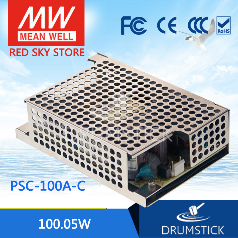 Selling Hot MEAN WELL PSC-100A-C 13.8V meanwell PSC-100 100.05W Single Output with Battery Charger(UPS Function) hot sale mean well psc 160a 13 8v meanwell psc 160 160w single output with battery charger ups function pcb type
