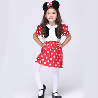 Kids Girls Dot Cute Mouse Anime Cosplay Clothing Children Fantasy Fancy Dress Carnival Party Halloween Costumes