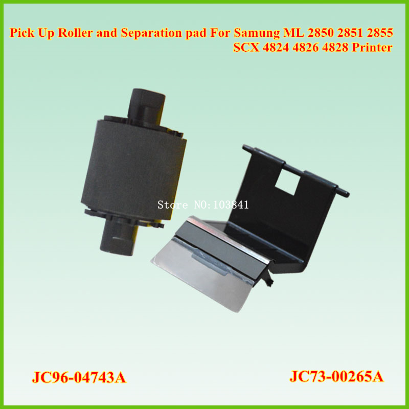 JC96-04743A Separation pad Roller + JC73-00265A PickUP Roller for Samung 2850 2851 2855 4824 4826 4828 Printer Pick up Roller 10x pickup roller for xerox 3115 3116 3119 3121 for samsung ml 1500 1510 1520 1710 1710p 1740 1750