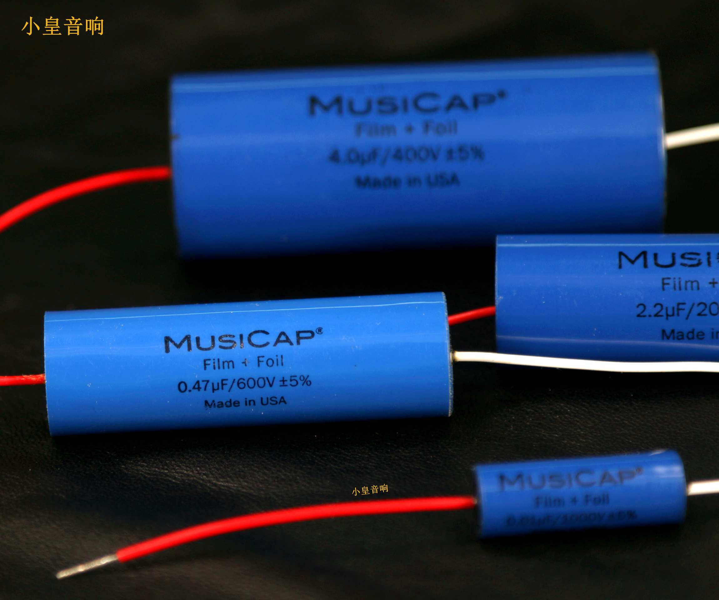 1lot 2pcs American original MusiCap 0 01UF 5UF speaker divider capacitor axial capacitor Foil Polypropylene free shipping in Capacitors from Electronic Components Supplies