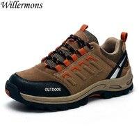 נוגדים החלקה של גברים חיצוני סניקרס גברים לנשימה נעלי הליכה נעלי ספורט טרקים לקמפינג