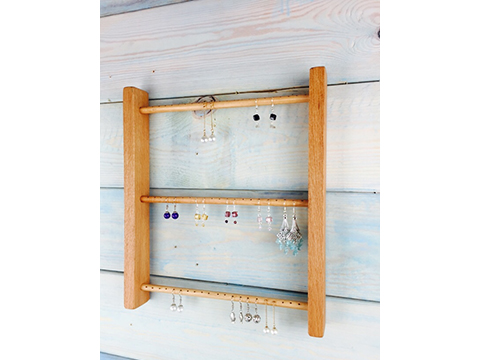 New Style On Wall Hang Up Wood Earrings Display Frame Jewelry