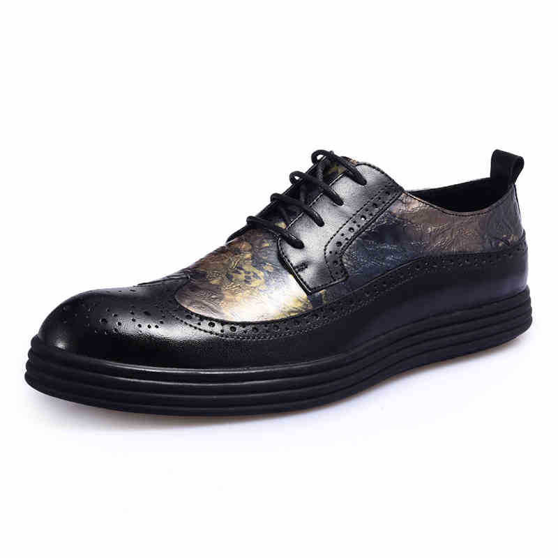 Bullock nowy jesień zima brytyjska retro zamek skórzane buty oddychające buty sneaker moda mężczyźni buty w stylu casual, ręcznie robione w Męskie nieformalne buty od Buty na  Grupa 2