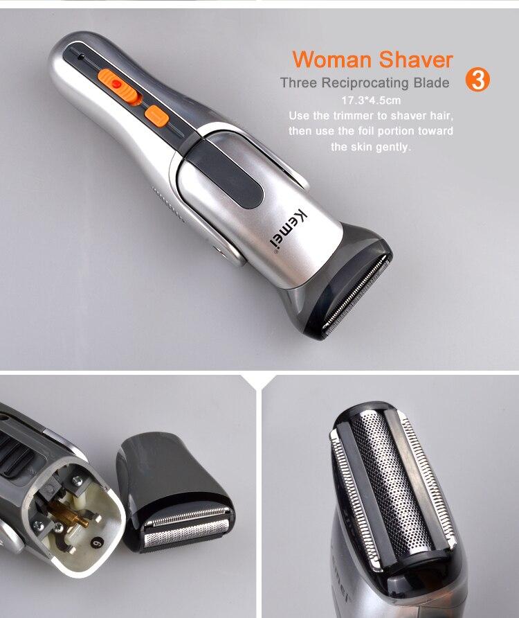 Kemei680A 2016 multifonction nouveau Cutter électrique tondeuse à cheveux Rechargeable tondeuse rasoir rasoir sans fil réglable tondeuse - 6