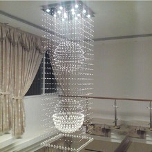 font b El b font Luxor Hotel Lobby Crystal Pendant Lights Hanging Double Staircase font