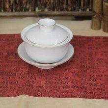 """Уникальный """"Китайский кун-фу"""" чай, гайвань ручная роспись белый фарфор контур в золотистом и розовом цвете gai wan"""