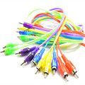 New red/ purple/ yellow/ green/ blue 1M 3.5mm to 2 RCA Audio Cable Male To Male Cable For iPod Mp3 Mp4 Player Mobile Phone