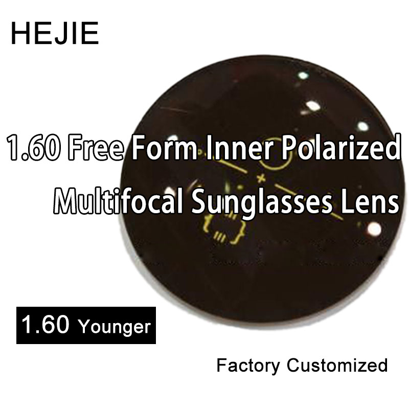 Factory Customized 1.60 Younger Anti Reflection Free Form Progressive Polarized Lenses For Multofical Glasses & Sunglasses Lens
