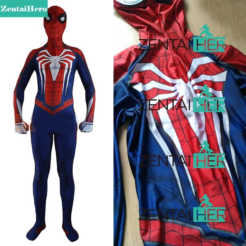Pulsuz Göndərmə DHL NEW 3D PS4 Oyunu Spiderman Insomniac - Karnaval kostyumlar - Fotoqrafiya 1