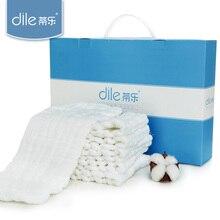 10pcs/lot Dile baby cloth diaper newborn pure cotton diaper summer 12-layer washable meson nappy peanut-shape reusable diaper