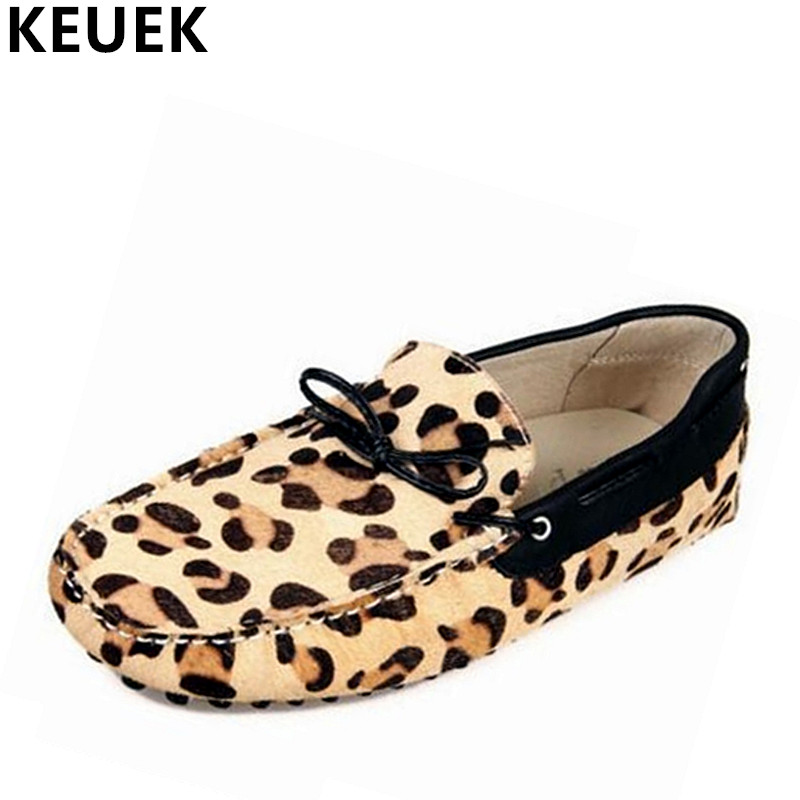 Men Flats Fashion Genuine leather Breathable Moccasins Male casual shoes popular leopard print Loafers Driving shoes 021 spring autumn fashion men high top shoes genuine leather breathable casual shoes male loafers youth sneakers flats 3a