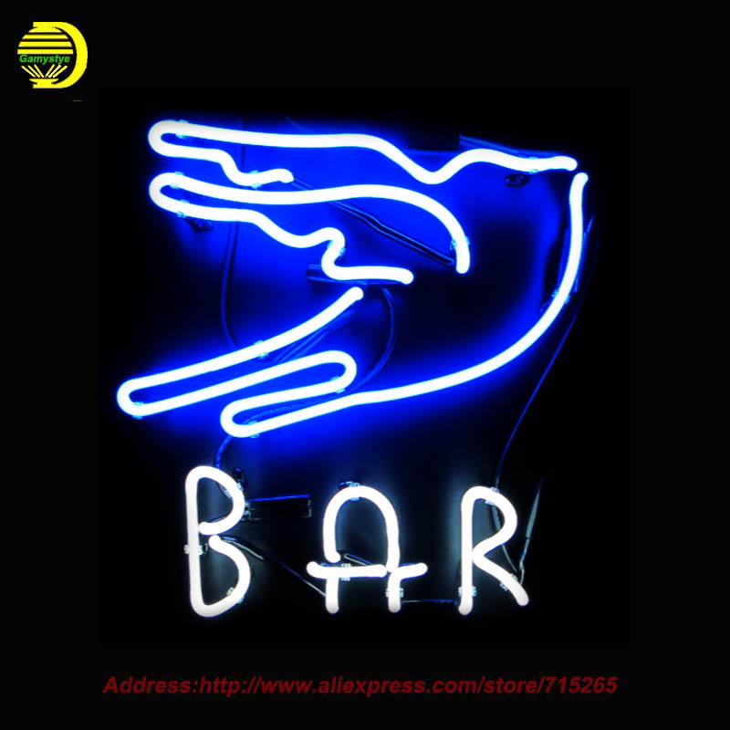 Neon Sign Custom bar neon Store Display Handcrafted Neon Signs Glass Tube Advertise Blues Signs Neon Publicidad Indoor 17x17
