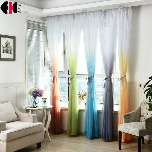 bruiloft plafond gordijnen babykamer zachte multi kleur jaloezien woonkamer gele gordijnen tule voile raam gordijnen gaas