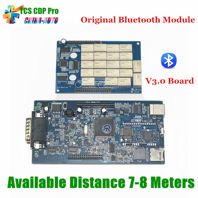 5 pçs/lote 2015. R1 TCS CDP Com Bluetooth Originais Módulo De Diagnóstico Ferramenta Scanner OBD2 tcs cdp pro + NEC relé Placa V3.0