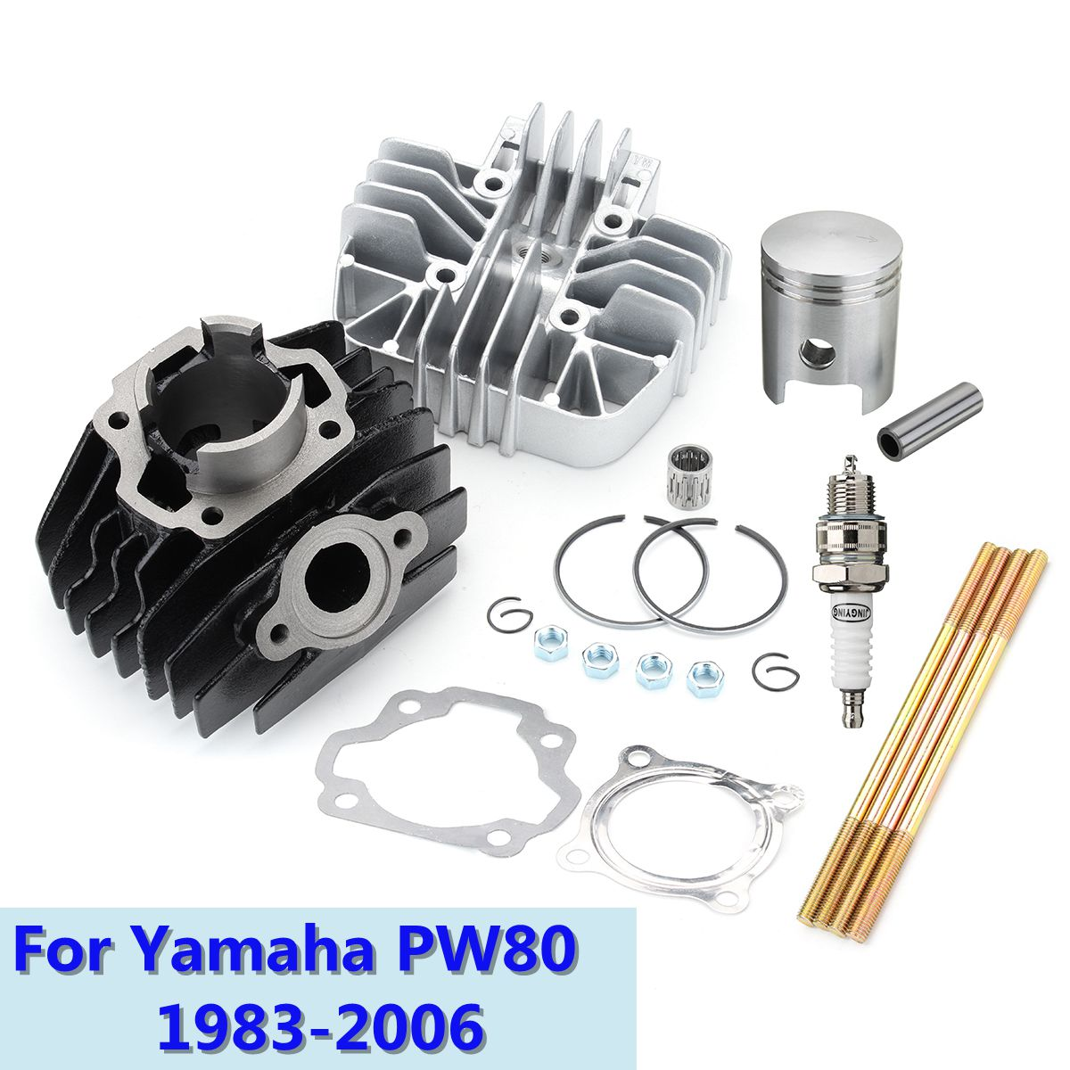 Cylinder Piston Engine Head Gasket Clip Top End Kit For Yamaha PW80 1983-2006