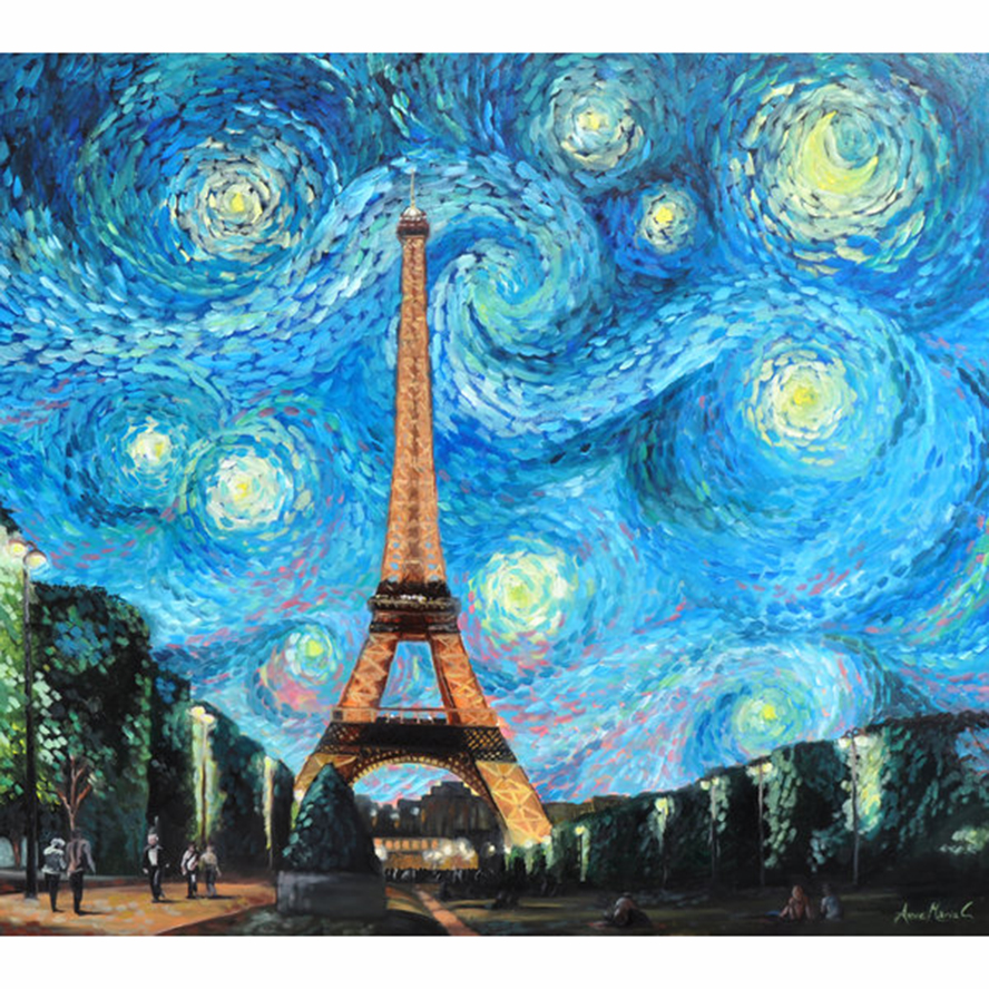 Starry night in pairs 5D DIY Diamond Painting Diamond Embroidery ...