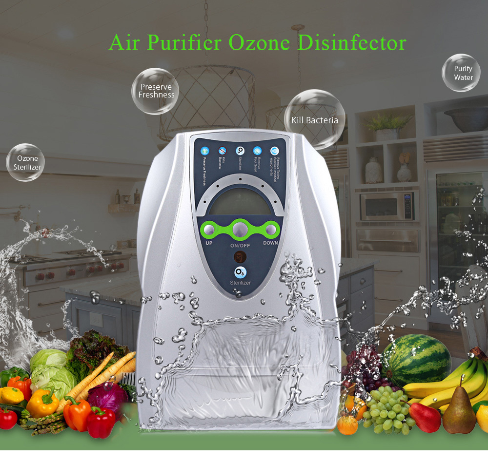 New Household Ozone Generator Air Purifier Portable Air Ozone Disinfector for Fruits Vegetables Sterilization with EU/US Plug 500mg l eu us plug multipurpose air purifier ozone disinfector fruits vegetables sterilization ozonio purificador