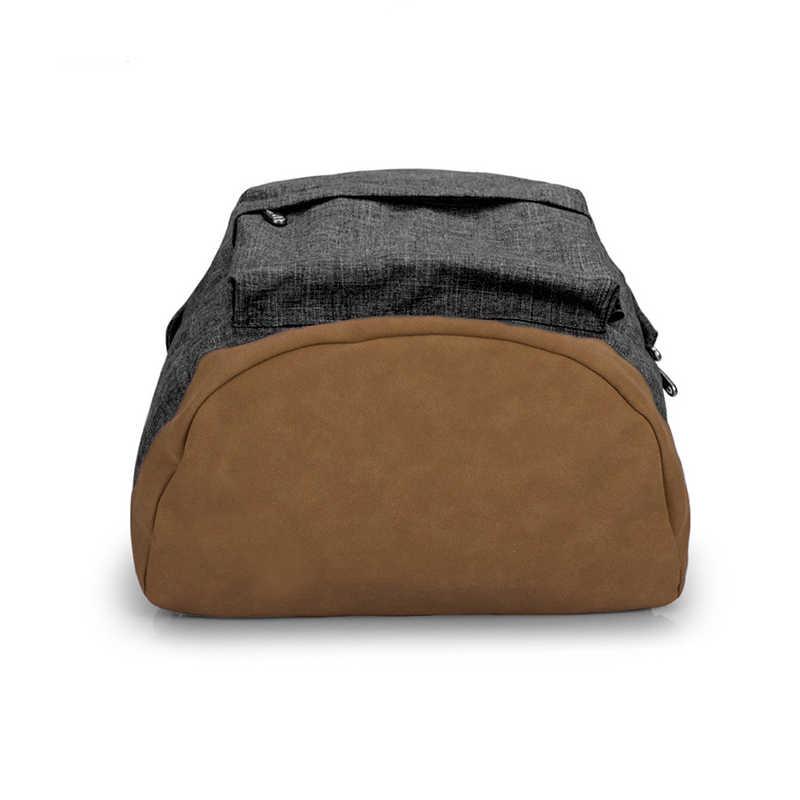 Рюкзак с usb-зарядкой серого цвета, прочные холщовые рюкзаки для женщин и мужчин, школьная сумка для подростков, 15 дюймов, повседневные дорожные рюкзаки для ноутбука, сумки