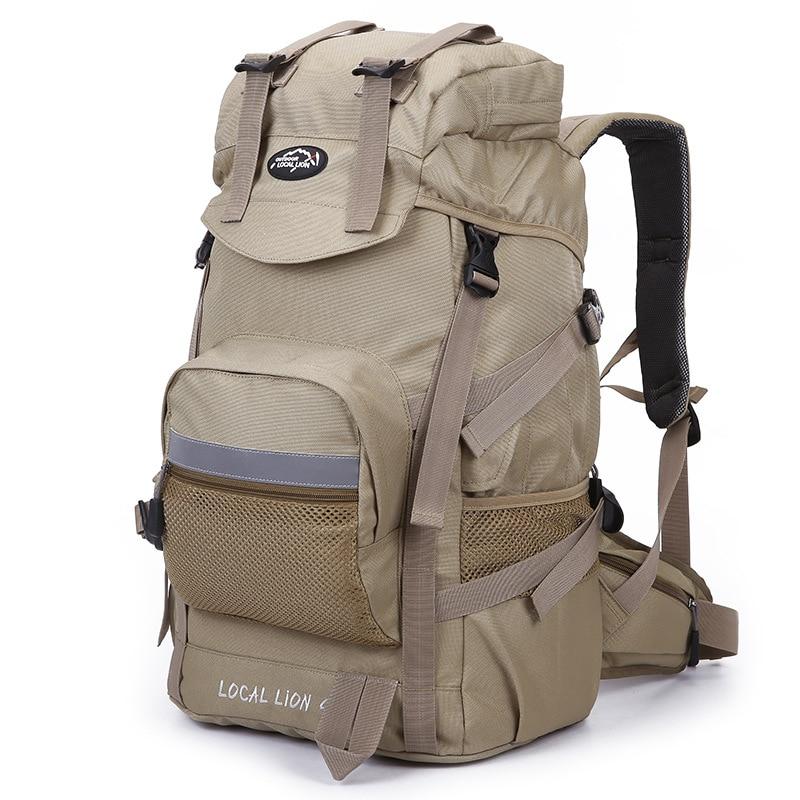 Professionla Outdoor Backpack Waterproof Nylon 45L Large Capacity Mountaineering Camping Hiking Rucksack Travel Bags 2