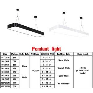 Image 3 - LED מודרני תקרת אור מנורת dimmable משטח הר פנל מלבן מתקן תאורת חדר שינה סלון משרד אור 110V 220V