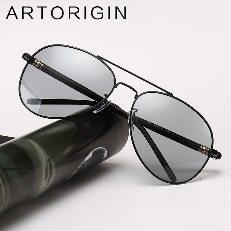 Classic Photochromic Sunglasses For Men Aviator Polarized Sun Glasses UV400 Male Sunglass Oculos Gafas 209