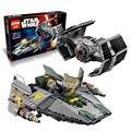 722 Unids 05030 LEPIN Star Wars Vader Tie Avanzado VS a-wing Starfighter 75150 Bloques de Construcción Compatibles con la ESTRELLA GUERRAS Juguetes