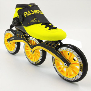 Image 3 - Thermoplastic carbon racing skate  3 wheel 125mm Heat moldable roller inline skates speed man women professional rolki skate