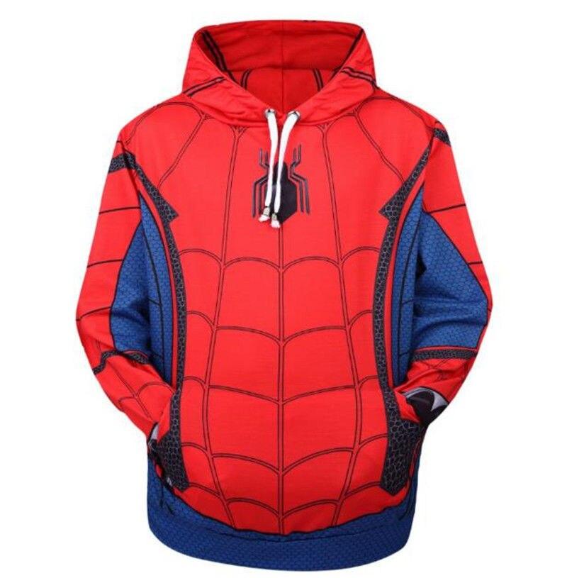 Spider-Man Homecoming Men Cosplay Costume Zipper Jacket Hoodie Sweatshirt Coat