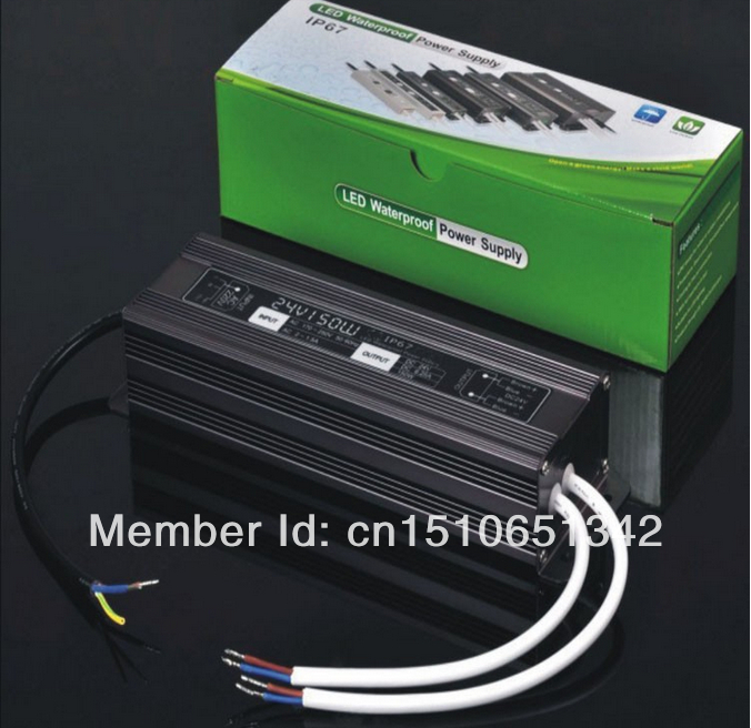 цены DHL led power supply waterproof 150w 12v 24v ,ROHS,CE,IP67,DHL/Fedex free shipping,5pcs/lot