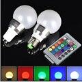 GU10 LED RGB Bulb lamp AC 220V 3W LED RGB Spot light dimmable magic Holiday RGB lighting+IR Remote Control 16 colors