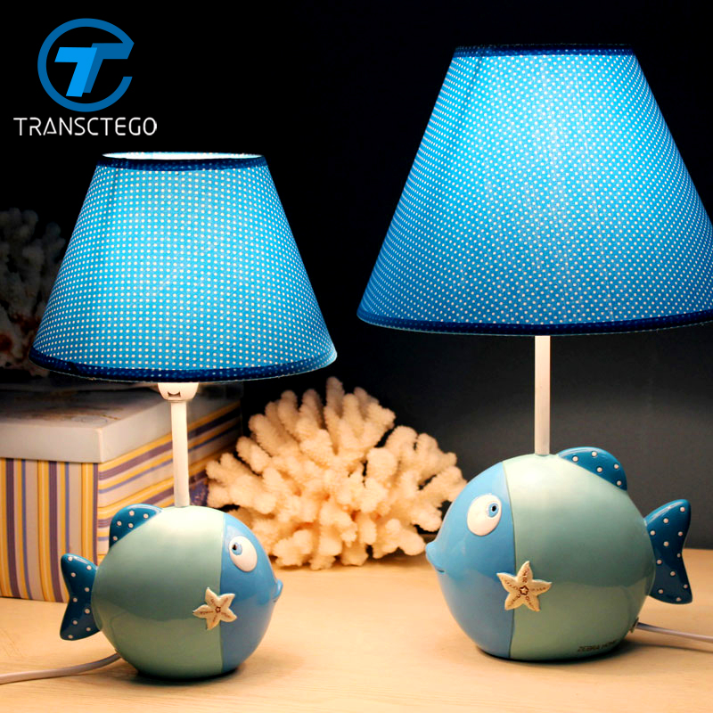 Dest Light Children bedroom bedside lamp lamp cartoon playful fish dimming fashion warm decoration Table Lamp lovely gift стоимость