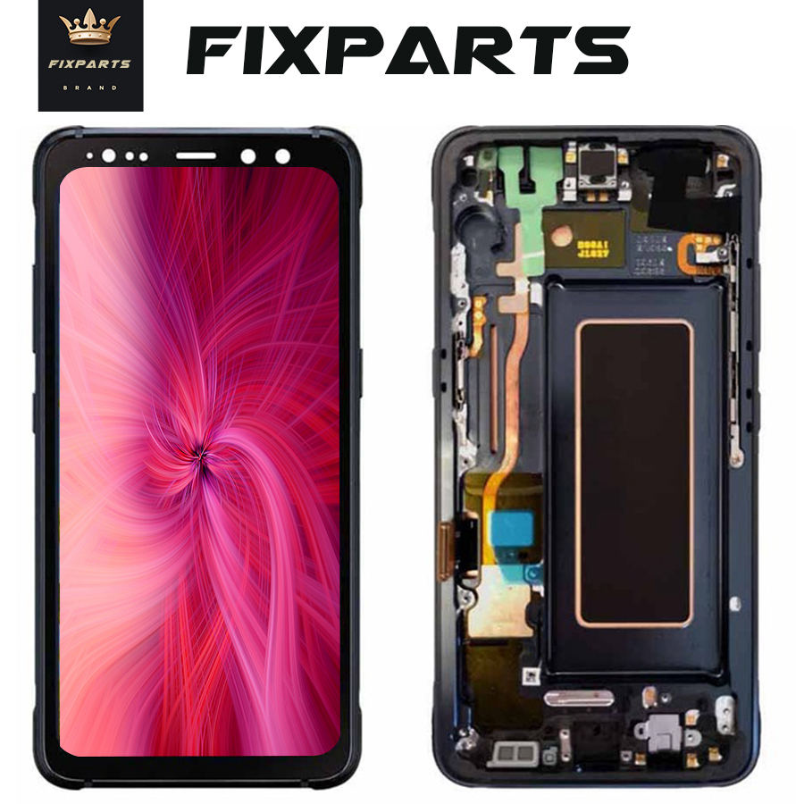 Super AMOLED Für <font><b>samsung</b></font> <font><b>Galaxy</b></font> <font><b>S8</b></font> Aktive LCD Display G892A G892u Touchscreen Digitizer Montage Ersatz Für <font><b>samsung</b></font> G892 image