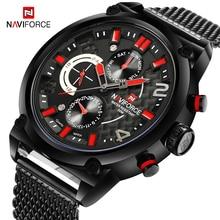 купить NAVIFORCE Military Analog Watch Men Top Brand Luxury Mens Waterproof Sport Watches Male Steel Mesh Belt Quartz Wristwatch  Clock по цене 1788.52 рублей