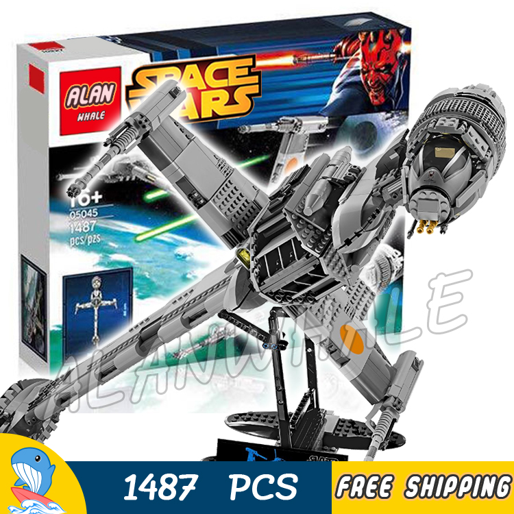 1487pcs Space Wars Starfighter B-Wing Fighter 05045 Highly Detailed Model Building Blocks Toys Bricks Games Compatible With Lego 2015 high quality spaceship building blocks compatible with lego star war ship fighter scale model bricks toys christmas gift