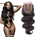 4X4 Human Hair Lace Closure Virgin Brazillian Lace Closure Bleached Knot Cheap Brazilian Body Wave Closure Free Middle Or 3 Part