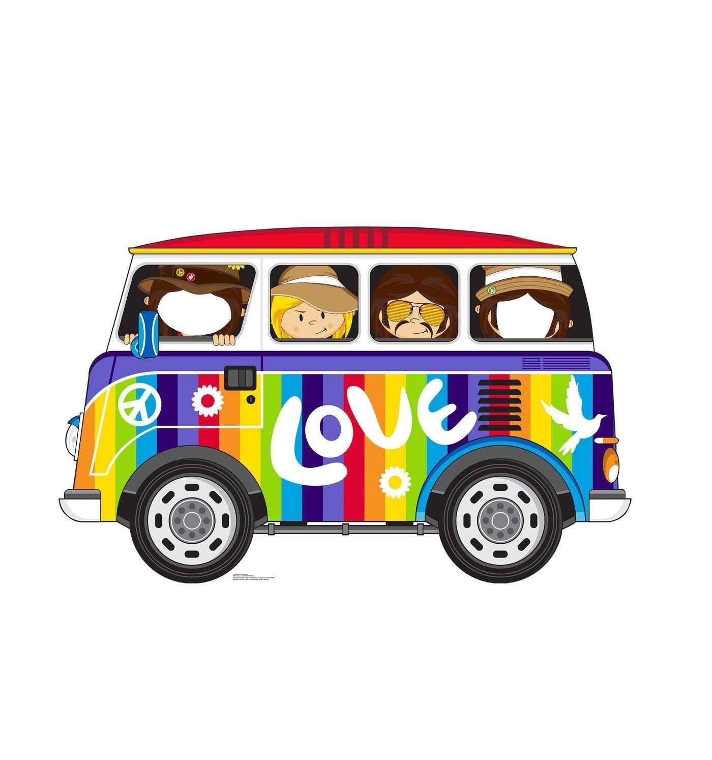 Hippie Bus Standin Cardboard Cutout Standee Stand Up Poster Cartoon T Shirt Men Uni New Fashion Tshirt Free Shipping Top