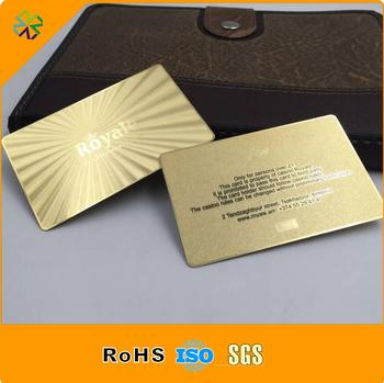 Factory wholesale high quality customized logo blue plated metal business card