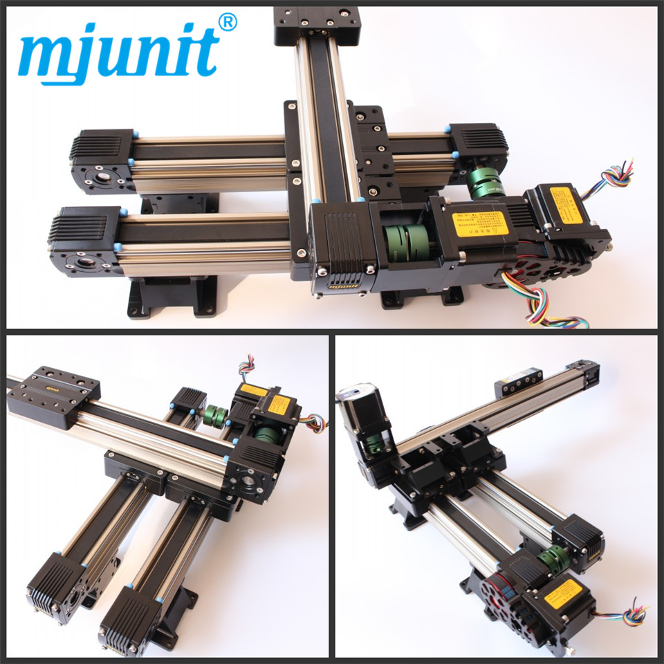 MJ45 Belt driven long travel linear slide with High Strength Motorized Linear Stage belt driven linear slide long travel distance guideway linear actuator