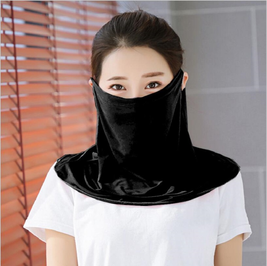High Quality Lightweight Face Mask Protective Ice Silk Scarf Masks Sun Protection UV Protection Breathable Elastic Dust Proof