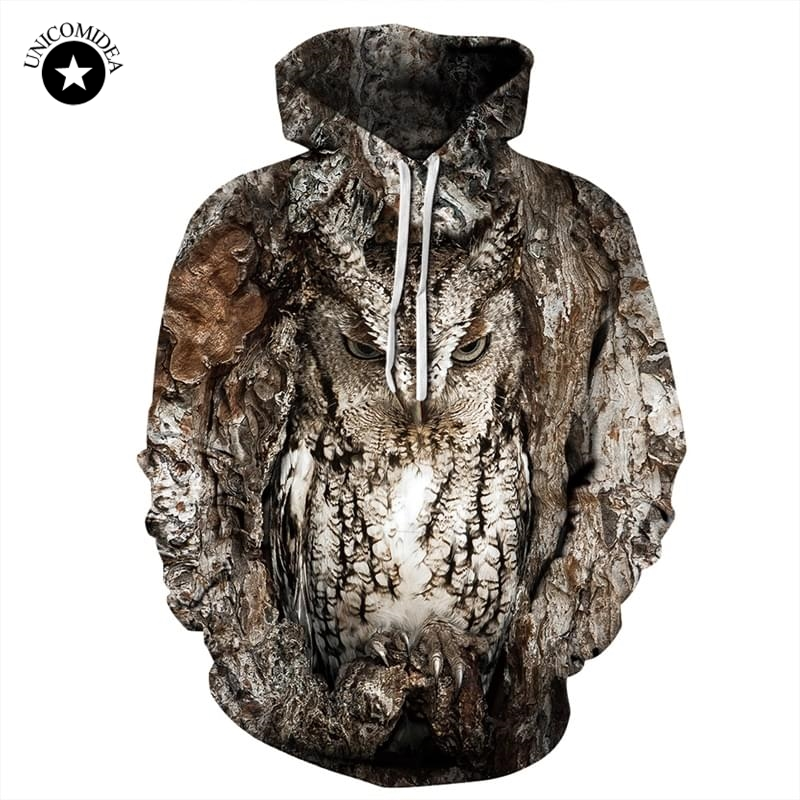 Owl <font><b>3D</b></font> <font><b>Animal</b></font> Printed Forest <font><b>Hoodie</b></font> Men Women Casual Crewneck Sweatshirts Streetwear <font><b>Hoody</b></font> Hip Hop Outwear <font><b>Hoodie</b></font> <font><b>Unisex</b></font> image
