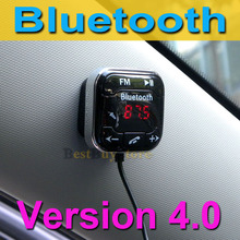 Hot Sale Bluetooth 4.0 Car Kit Handsfree MP3 Player FM Transmitter Support Micro SD Card & Line-in AUX