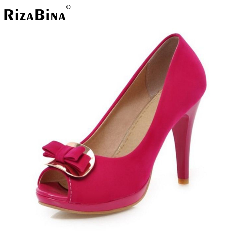 ФОТО women peep open toe high heel shoes footwear sexy brand platform spring fashion heeled pumps heels shoes size 31-43 P16980