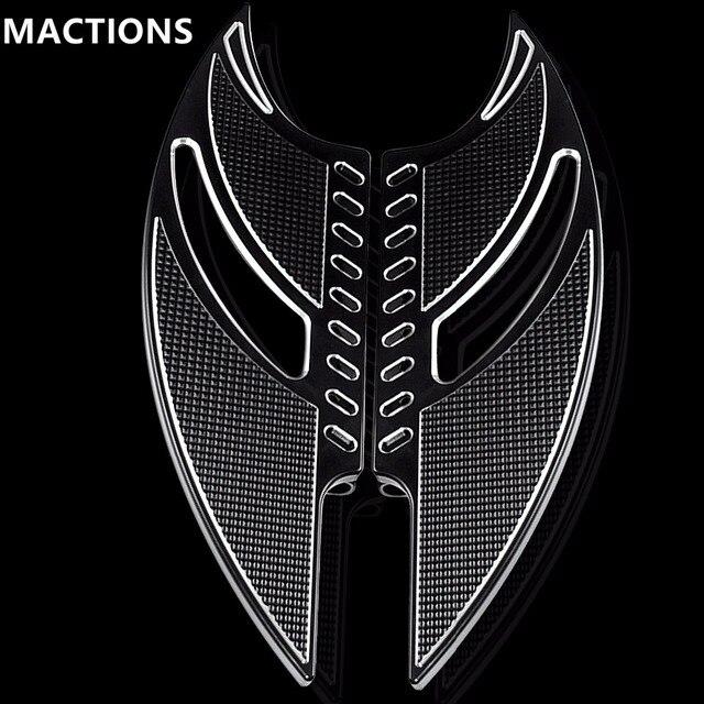 שחור CNC טומהוק קדמי נהג Stretche רצפה רגל נשענת להארלי סיור Softail FL Dyna FLD 1986 2015 מודלים