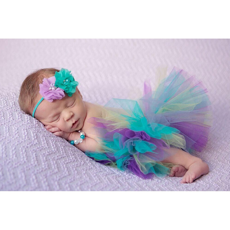 Baby Photography Props Newborn Costume Baby Tutu New Design Baby Tutu Skirt Princess Handmade Headware Photo Props with Headband