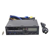 NOTAYO 2ports USB 3 0 Multifuntion 5 25 Media Dashboard Interna Card Reader 20 Pin E