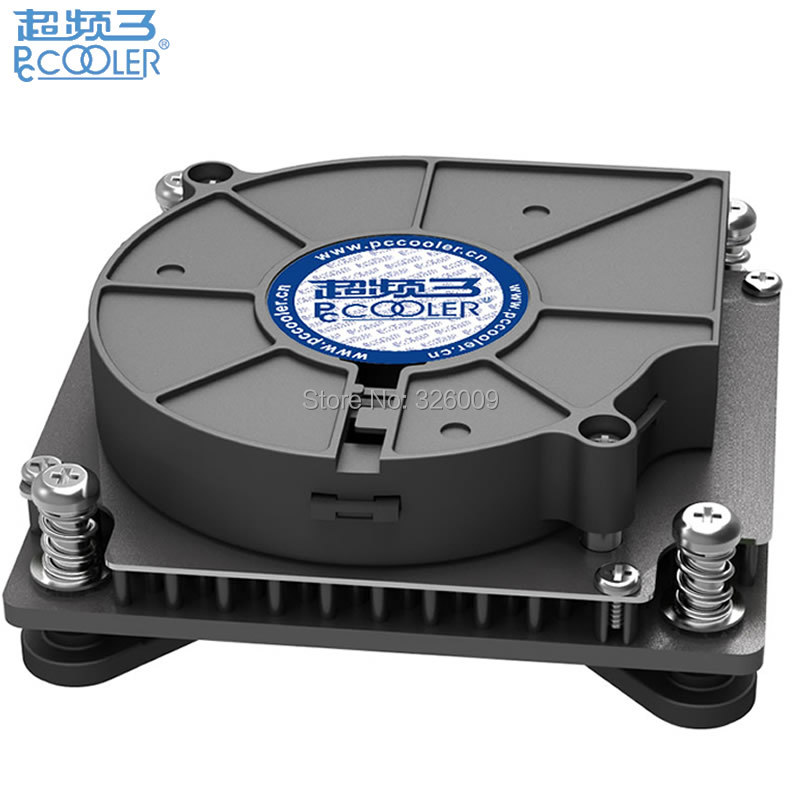 4pin PWM Turbo fan Utral-Thin 29mm for 1U server <font><b>CPU</b></font> <font><b>cooler</b></font> All-in-One PC Cooling For Intel LGA1151 1150 1155 <font><b>1156</b></font> PcCooler C81H image